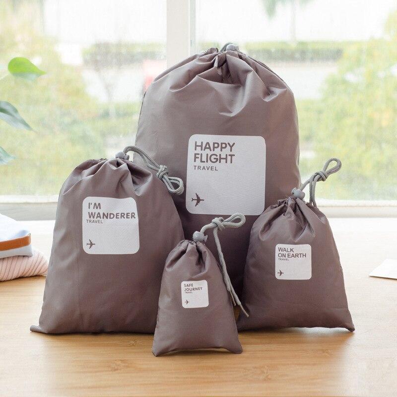 Set de 4 unidades/lote de accesorios de viaje para hombre y mujer, organizadores de ropa clasificados, bolsas de embalaje, bolsas para zapatos, bolsas de equipaje, venta al por mayor, 2020