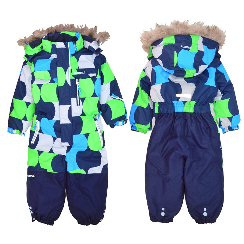 Children's one-piece ski clothing, quilted, waterproof, male and female baby climbing clothes, foreign trade original order