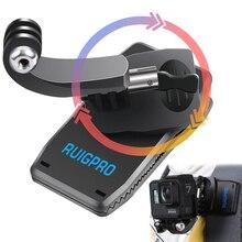 JINSERTA 360 degrés Rotation sac à dos Clip pour GoPro Hero 7 6 5 Portable sac à dos pince pour DJI OSMO ACTION SJCAM Xiaomi yi