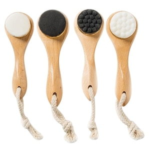Bamboo Wood Handle Facial Cleansing Brush Tools Soft Fber Hair Manual Face Brush Cleaning Face Brushes Skin Care