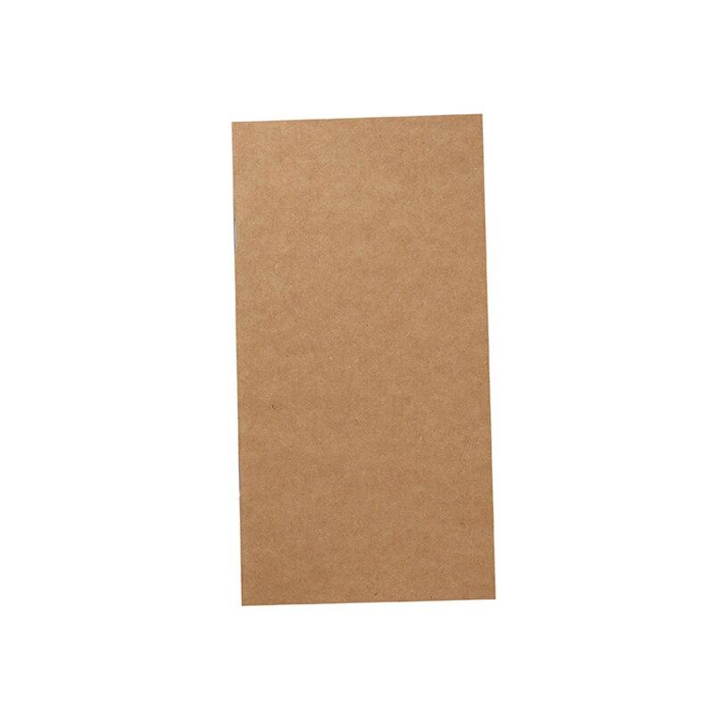 1 unids/lote, cuaderno de cuero de 135mm x 70mm, cuadrícula Horizontal y nota lineal, Bloc de notas de diseño, cuaderno para escuela y oficina