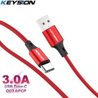 Кабель KEYSION USB Type-C 3A, провод для быстрой зарядки и передачи данных для Samsung S9 Xiaomi, USB C, шнур для быстрой зарядки телефона, USB-кабель Type-C