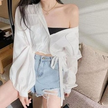 2021 New Autumn Women's Shirt Trend Fashion Simple Girly Style Chiffon Pure Color Small Fresh Long-s