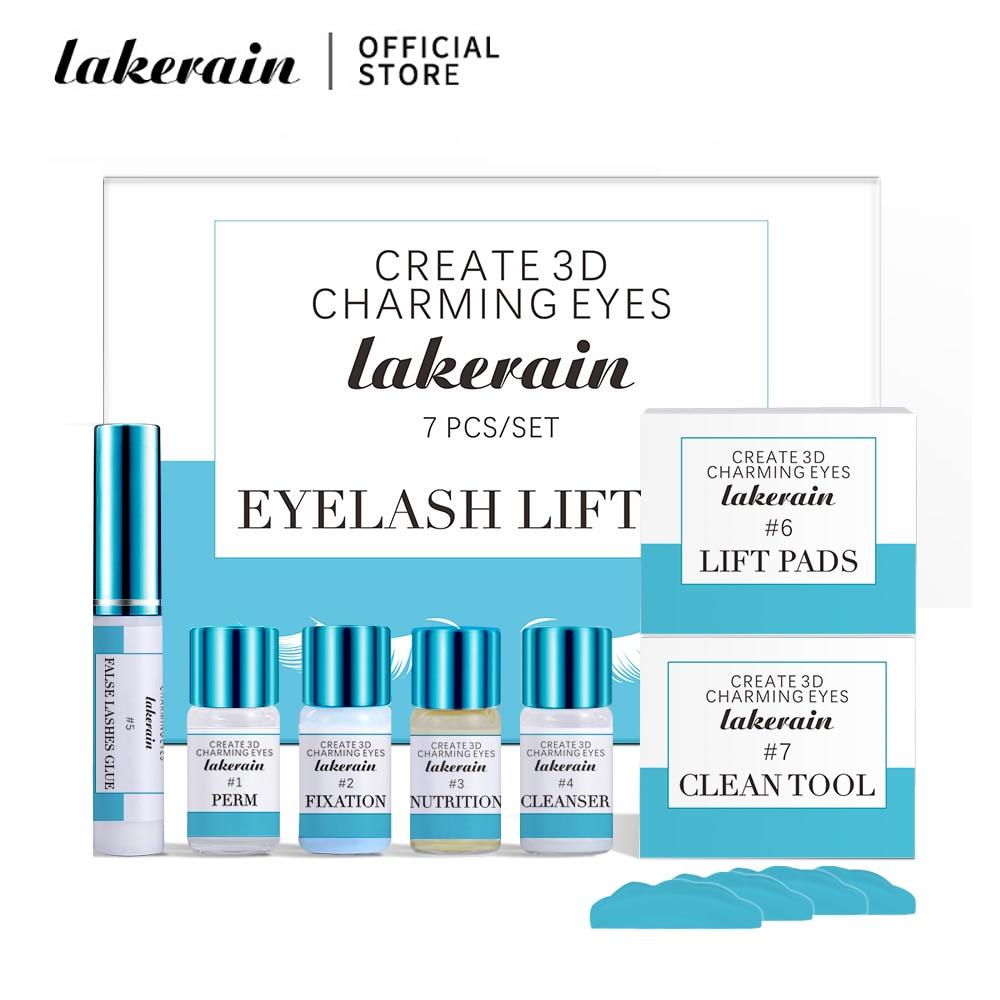 Lakerain kit de levantamento de cílios lash olho profissional para cílios perm lash levantamento cílios crescimento soro lash lift ferramenta