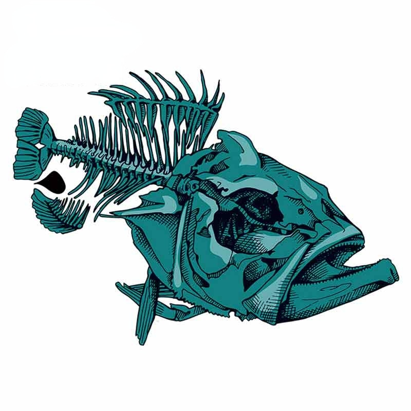 Автомобильные наклейки s и Переводные картинки для рыбы ископаемые забавные граффити Стикеры для мотоцикла автомобиля сборники графика 13 с...