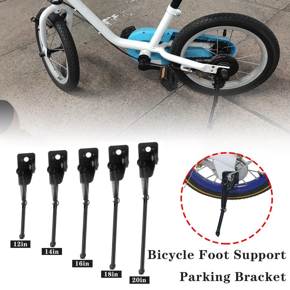 Bicicleta pé suporte rack de estacionamento acessórios da bicicleta das crianças 12 Polegada 14 Polegada 16 Polegada suporte lateral do carro escada