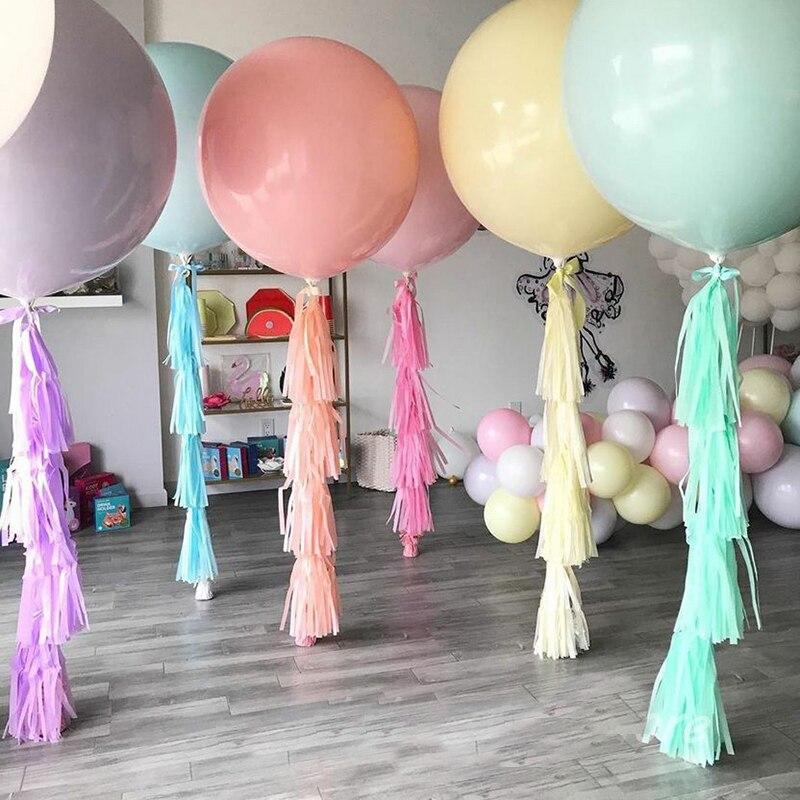 1pc Macaron Latex Balloons Pastel Candy Balloon Big Size Round Kids Baby Shower Birthday Party Decoration Wedding Globos
