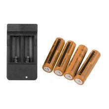 4x18650 3,7 V 9900mAh batería recargable de iones de litio + 4 ranuras cargador inteligente con 4 LED indicador enchufe de EE. UU.