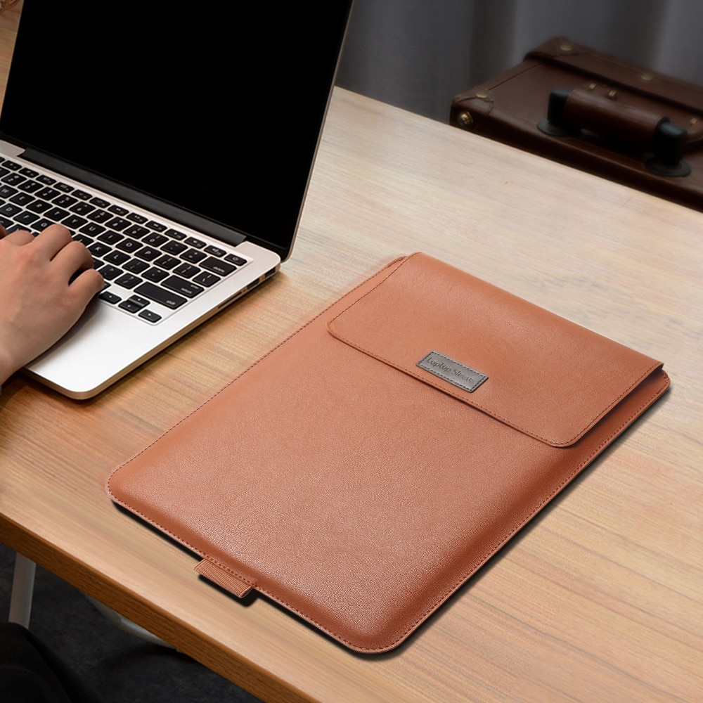 Купить с кэшбэком Aiyopeen PU Leather Laptop Sleeve Case with Stand Holder Bag for Macbook Air 11 Air 13 Pro 13 Pro 15 inch for huawei magicbook