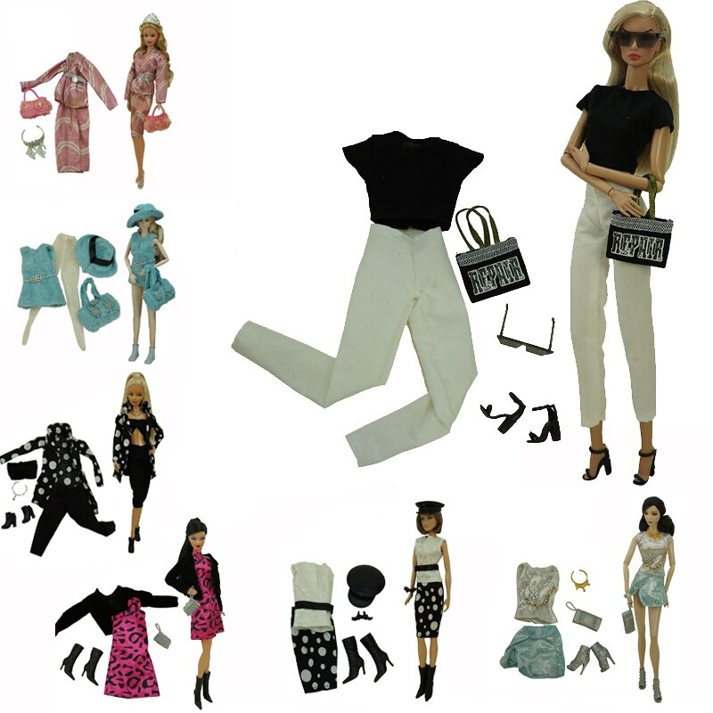 Ropa para vestir muñecas de 30cm, suéter, falda, ropa y zapatos, conjunto...