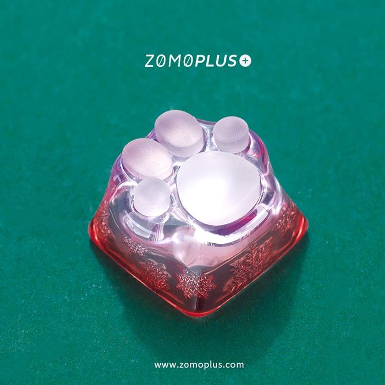 زومو بلس ثلاثية الأبعاد مطبوعة الراتنج سيليكون شفاف القط باو Keycap متعدد الألوان ABS والسيليكون الحرفي Keycap للوحة المفاتيح الميكانيكية