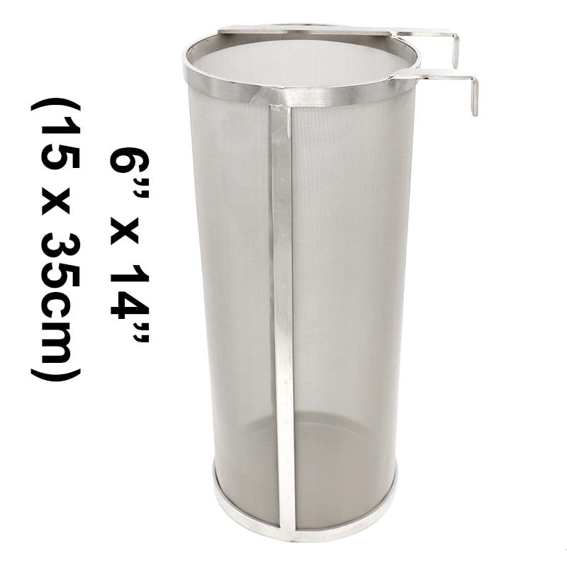 Homebrew-غلاية هيب هوب من الفولاذ المقاوم للصدأ مع خطاف ، 6 × 14 بوصة ، 300 ميكرون ، مرشح وعاء جاف للقهوة المنزلية