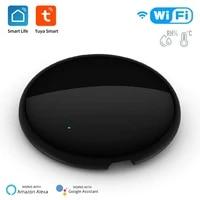 Tuya     telecommande WiFi IR universelle intelligente  avec capteur de temperature et dhumidite  pour climatiseur  TV AC  fonctionne avec Alexa Google Home