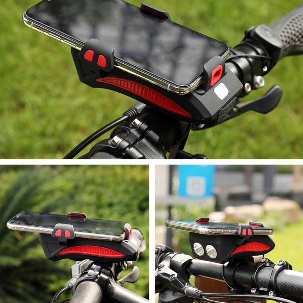 Soporte de teléfono para iPhone Samsung, soporte Universal para manillar de móvil o bicicleta, soporte de montaje GPS con faro LED