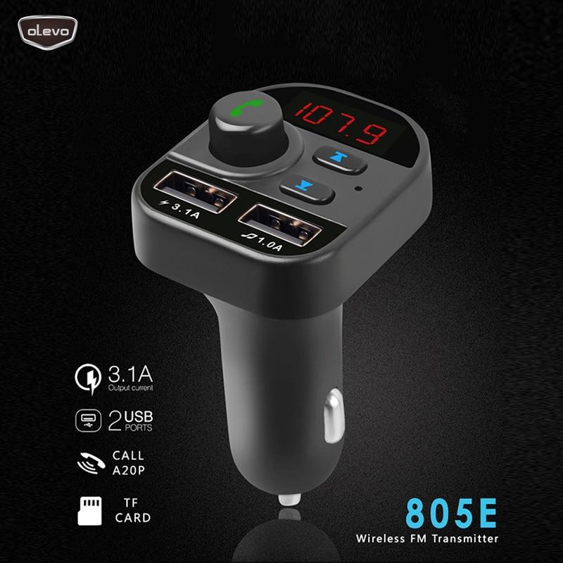 Carro mp3 player de áudio sem fio transmissor fm duplo usb quick3.1a mp3 módulo kit carro bluetooth carregador usb jogador carro modulador