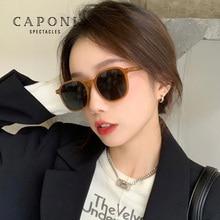 CAPONI Polarized Square Sunglasses Woman Decorative Trendy Vintage Eyewear Fashion Design Girl Sun G