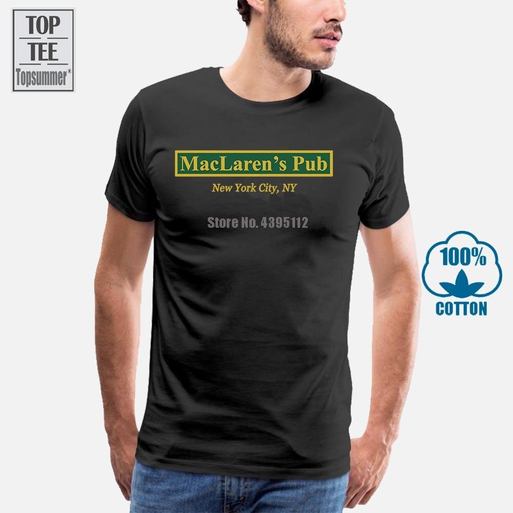 Camiseta Maclaren S Pub de Nueva York Cómo Conocí a tu madre, camiseta personalizada, talla europea, S-3Xl, camiseta fresca antiarrugas