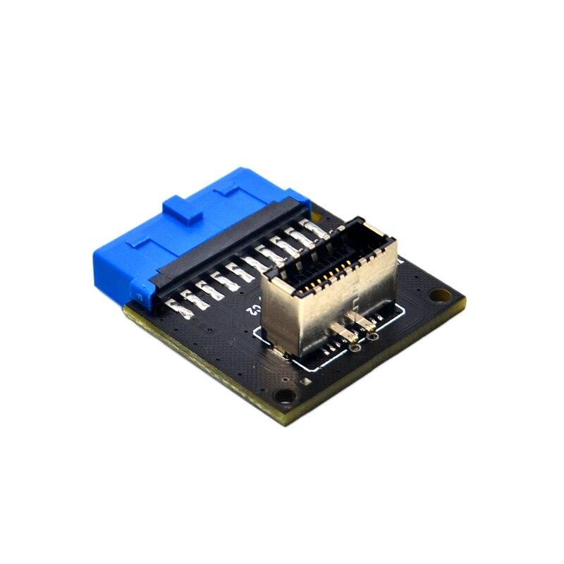 Компьютерные разъемы USB 3,1 Передняя панель PC гнездо к USB 3,0 20 pin Заголовок удлинитель адаптер для ASUS материнская плата PW-INC1TR