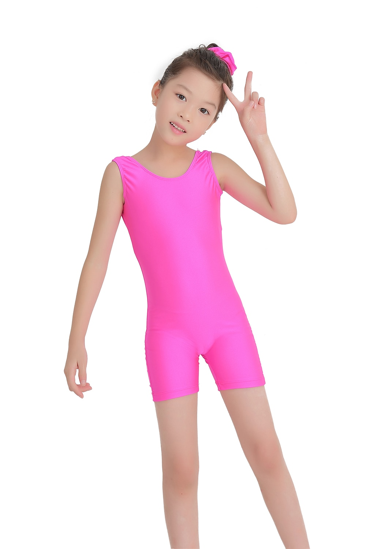 Speerise niños tanque Biketards niñas rosa roja gimnasia Spandex danza Unitards ropa de bicicleta niños ropa de baile púrpura Niño