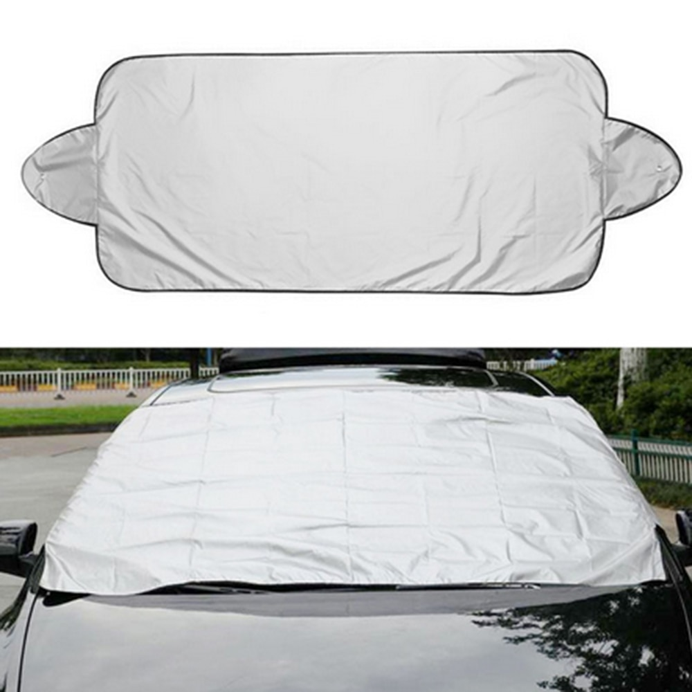 190t Silver-coated Cloth Snow Visor Car External Anti-sun Auto Windshield Protector Prevent Frost Ice Dust