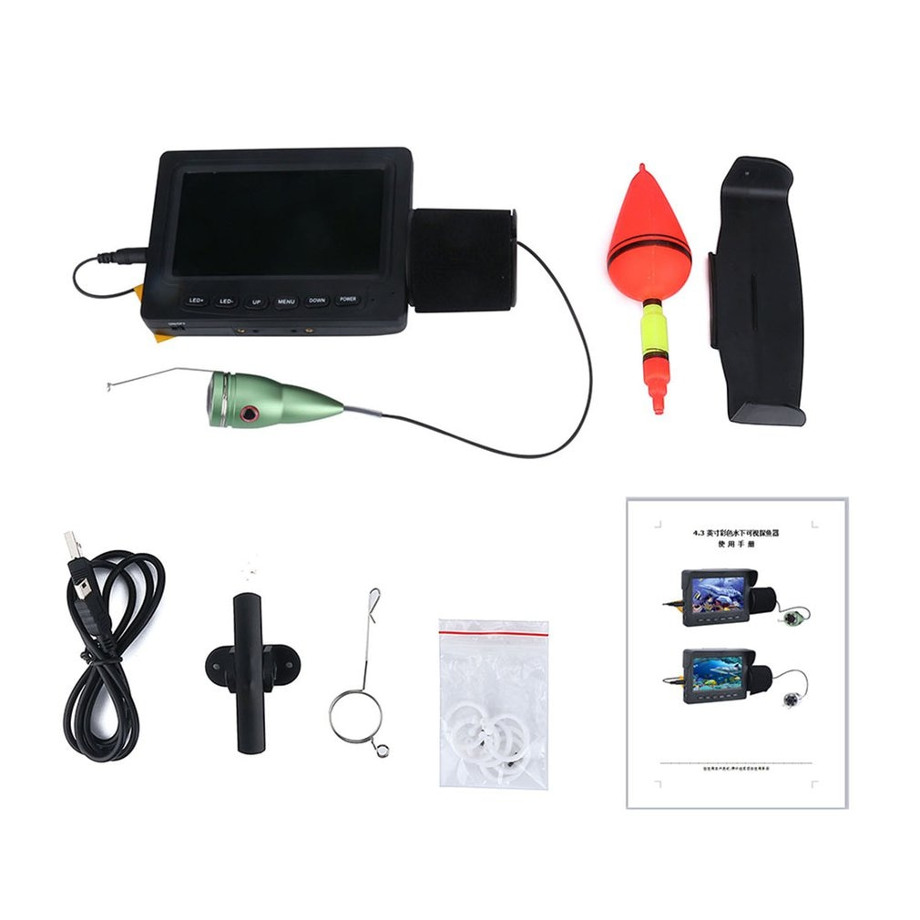 Double lamp 30LEDs 7 inch 15M 30M 50M fish finder underwater camera waterproof ice/sea/river fishing 1000TVL 2021 enlarge