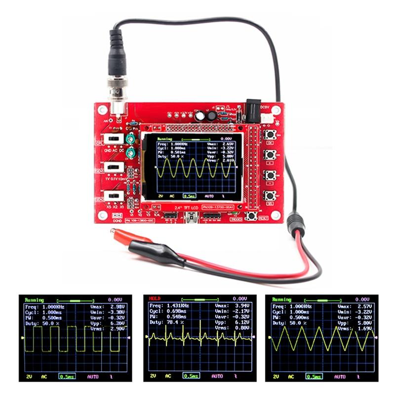 Peças do jogo do osciloscópio 2.4tft 1 msps de digitas para o osciloscópio que faz o diagnóstico eletrônico-conjunto de aprendizagem da ferramenta completa monta