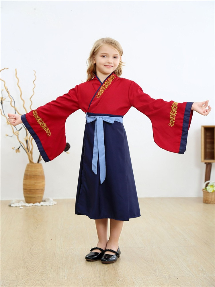 Elegant Simple Cosplay Costume Hua Mulan Comic Traditional Cultural Wear Clothing of Tang Dynasty in China