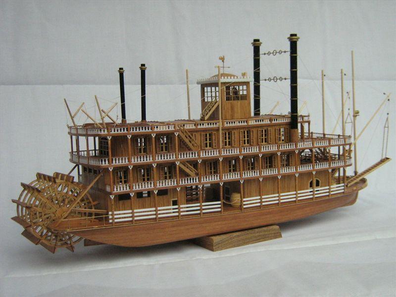 Modelo de veleiro kit de montagem 1100 mississippi 1870 vapor paddle steamer modelo kits de construção