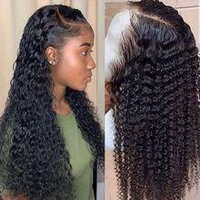 Cheveux brésiliens naturels pour femmes noires, perruque bob courte, cheveux naturels bouclés pré plumés avec des cheveux de bébé, 13x4  Short  bob WIG