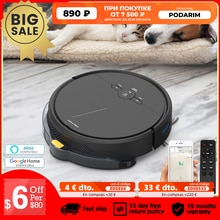 Robotic Vacuum Cleaner Wifi APP ALEXA Remote Control 250ml Water Tank 3600Pa Suction 4400mAH Gyro Path Planning Auto-Recharge