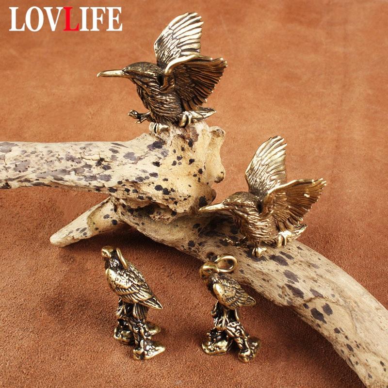 Vintage Brass Bird Keychain Eagle Pendant Woodpecker Hanging Jewelry Car Key Chain Ring Men Women Fashion Keyring Birthday Gifts