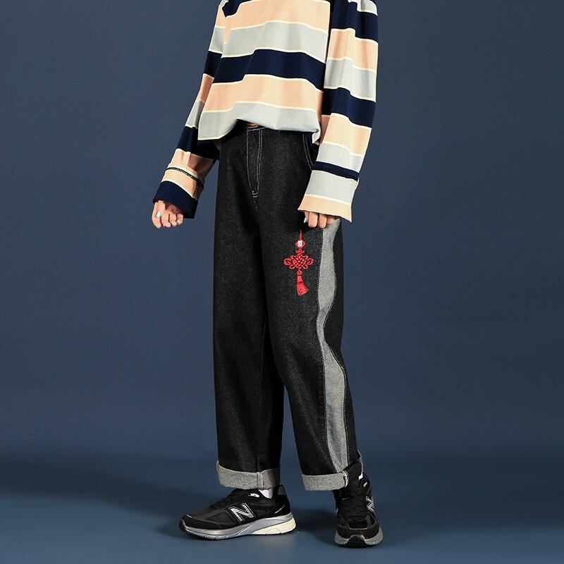 New Denim Casual Wide leg Oversize Cargo Denim Boy Baggy Jeans For Men Overalls Boys Man Pants