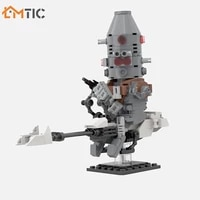 star movie speeder bike with ig warrior hunter no 11 figure moc building blocks diy assembly brick educational toys for children