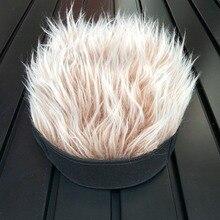 شعر مستعار شعر مستعار قبعة واقية من الشمس للرجال والنساء مضحك بارد قبعة بتصميم هيب هوب قصيرة البطيخ كاب الصلبة اللون الطاقيه فضفاض الرجعية تزلج صياد تفعل