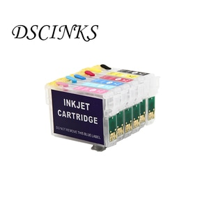 6pcs Refillable ink cartridge IC05 For Epson PM-3300C PM-3500C PM-3700C PM-720C PM-780C PM-780CS PM-870C PM-880C PM-890C printer