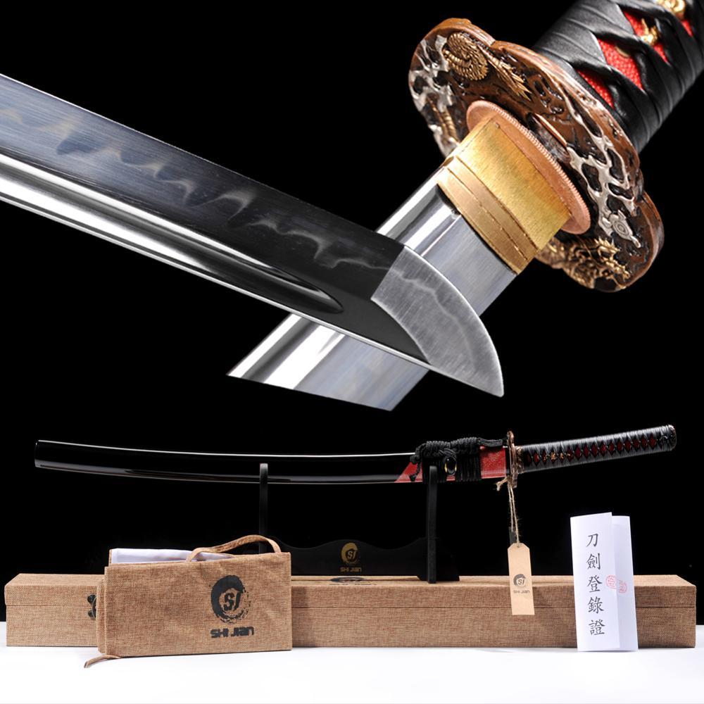 Brandon Swords New Sharp Japanese Katana Fully Hand Polished Samurai Sword High Carbon Steel Clay tempered Full Tang Beautiful