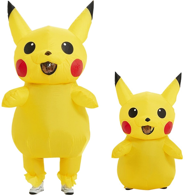 Yellow Inflatable Mascot Anime Cosplay For Adult Kids Mascot Carnival Fantasy Halloween Costumes For Women 2019 sell like hot professional easter bunny mascot costumes rabbit and bugs bunny adult mascot for sale