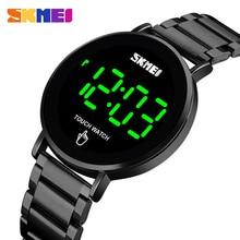 SKMEI marque hommes montres de luxe Sport montre numérique en acier inoxydable hommes montre-Bracelet lumière LED affichage électronique montre Bracelet