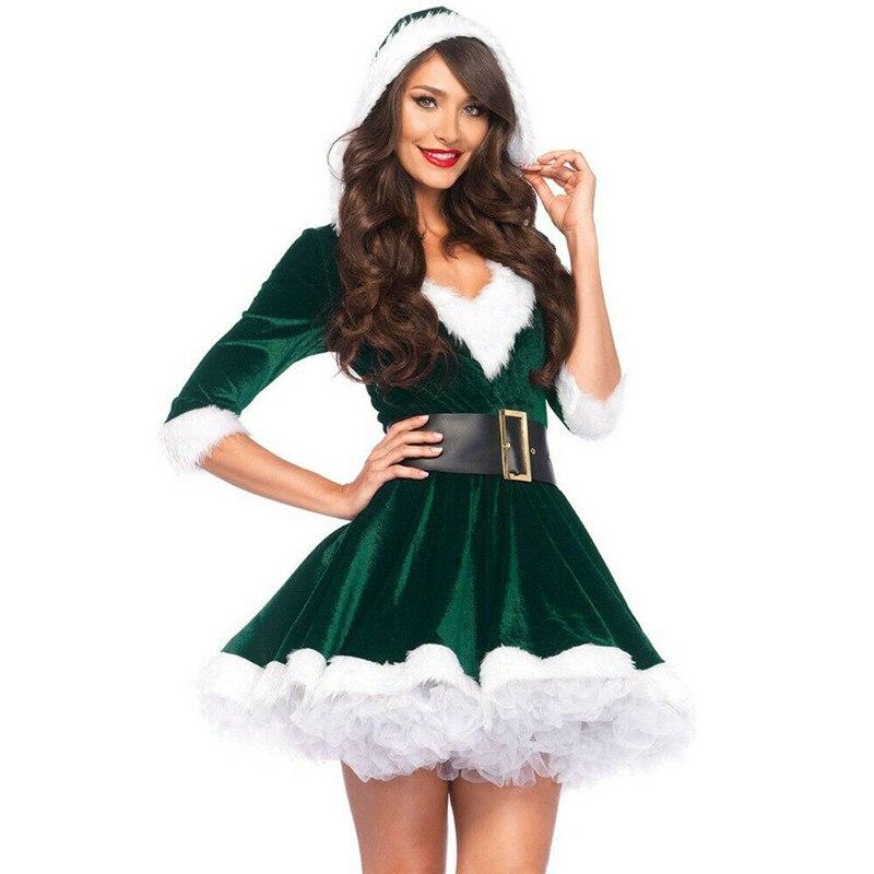 Vestido de Swing de Navidad vestidos de fantasía de Mujer Vestidos de Navidad rojo ropa de Navidad Vestido de fiesta de noche femenino traje de invierno cálido