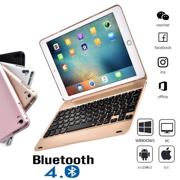 2020 IPad Pro 9.7 Inch Bluetooth Keyboard Ipad Air 2 Keyboard and Mini 1234 Keyboard with ABS Protective Case
