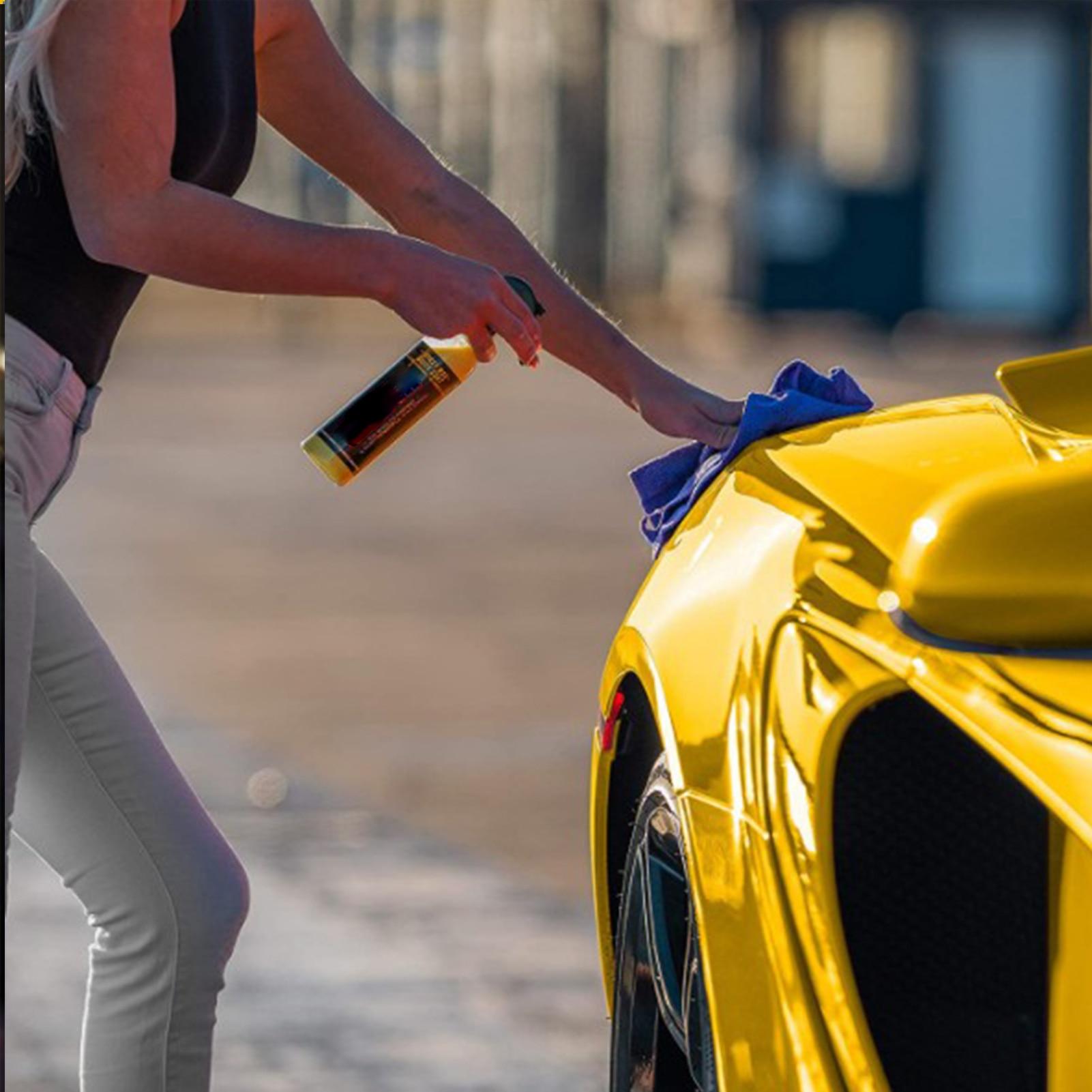 Автомобильный воск с карнаубой, Полировочный спрей, блеск, воск, быстрая безопасность, полировка автомобиля, гибридная гидрофобная жидкост...