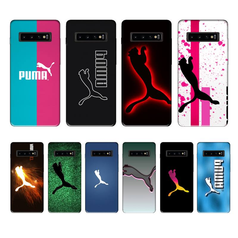 Moda Puma marca funda coque fundas etui para samsung galaxy A10 A20 A30S A40 A50 A51 A70 A71 note 8 9 10 fundas cubierta