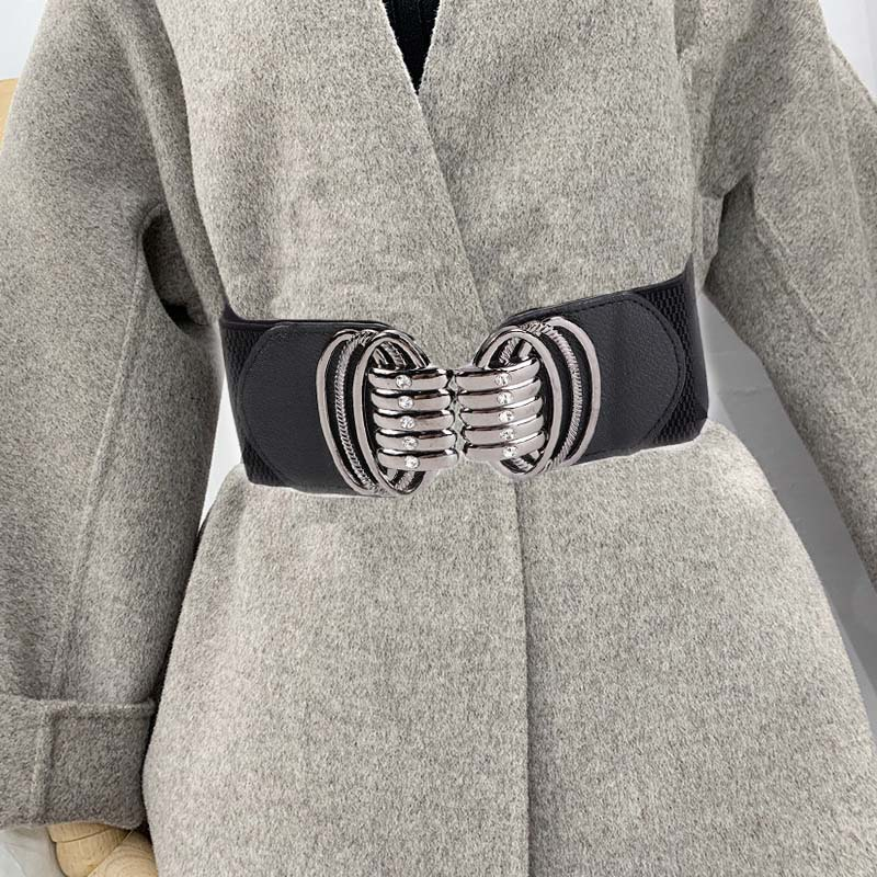 AliExpress - New Fashion Women Elastic Belts Designer Luxury Brand Wide Waist Strap Dress Coat Sweater Ladies Decorative Waistband