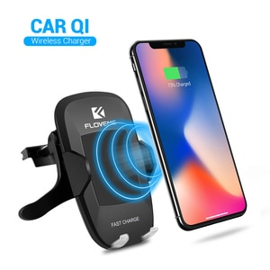10W Phone Car Wireless Charger Receiver Holder Fast Qi Smart sensor for iPhone12 11 for Samsung Wireless charger car GPS bracket