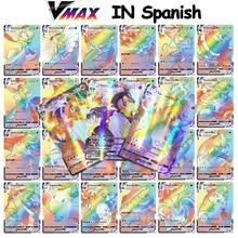 Carte Pokemon in spagnolo 2021 nuovo arrivo VMAX gioco di carte da gioco olografico gioco per bambini arduano espol