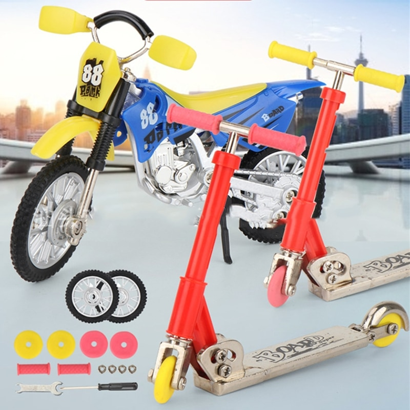 Металлический сплав скутер для пальца мини скутер двухколесный скутер детские развивающие игрушки скутер для пальца велосипед