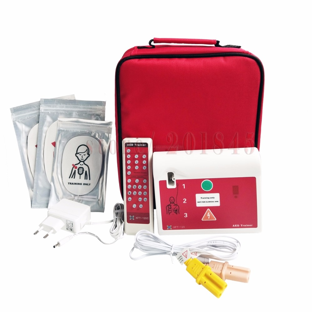 Automatic External AED Heartstart Trainer CPR Training Aid First Aid Teaching Device With Pads Practi-trainer Essentials