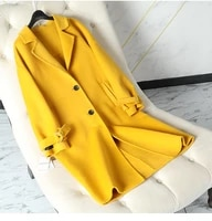 women wool coat 2019 new arrival winter wool outerwear female slim korean thick woolen outerwear medium length outerwear new