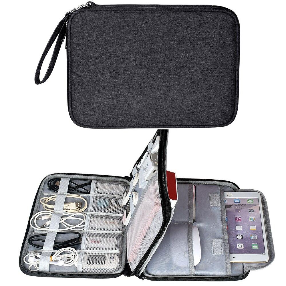مقاوم للماء اكسسوارات الالكترونيات المنظم حقيبة السفر اللوحي تخزين حافظة لجهاز iPad Mini Air 2 شاحن الهاتف قوة البنك كابل