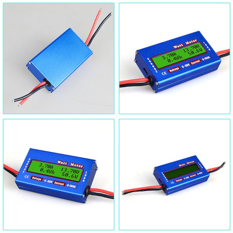 DC 60V 100A Balance Voltage Battery Power Analyzer RC Watt Meter Checker Professional Watt Meter Balancer Charger RC Tools enlarge